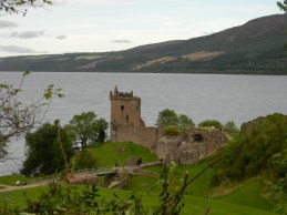 Urquhart Castle on Loch Ness. Image by C. L. Tangenberg